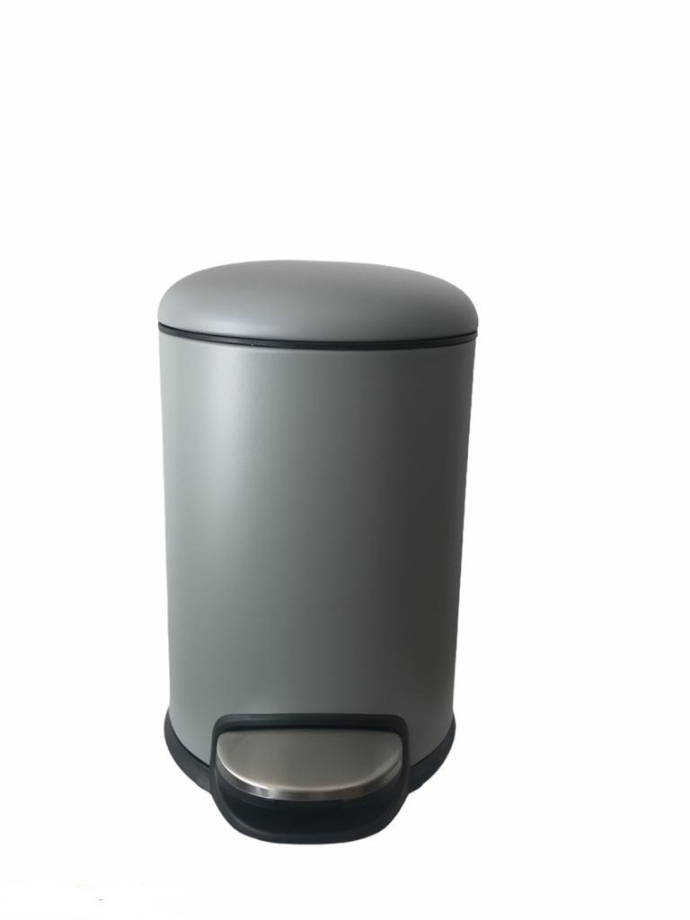Poubelle rond bass 3L inox 304 gris clair luxe  sanili