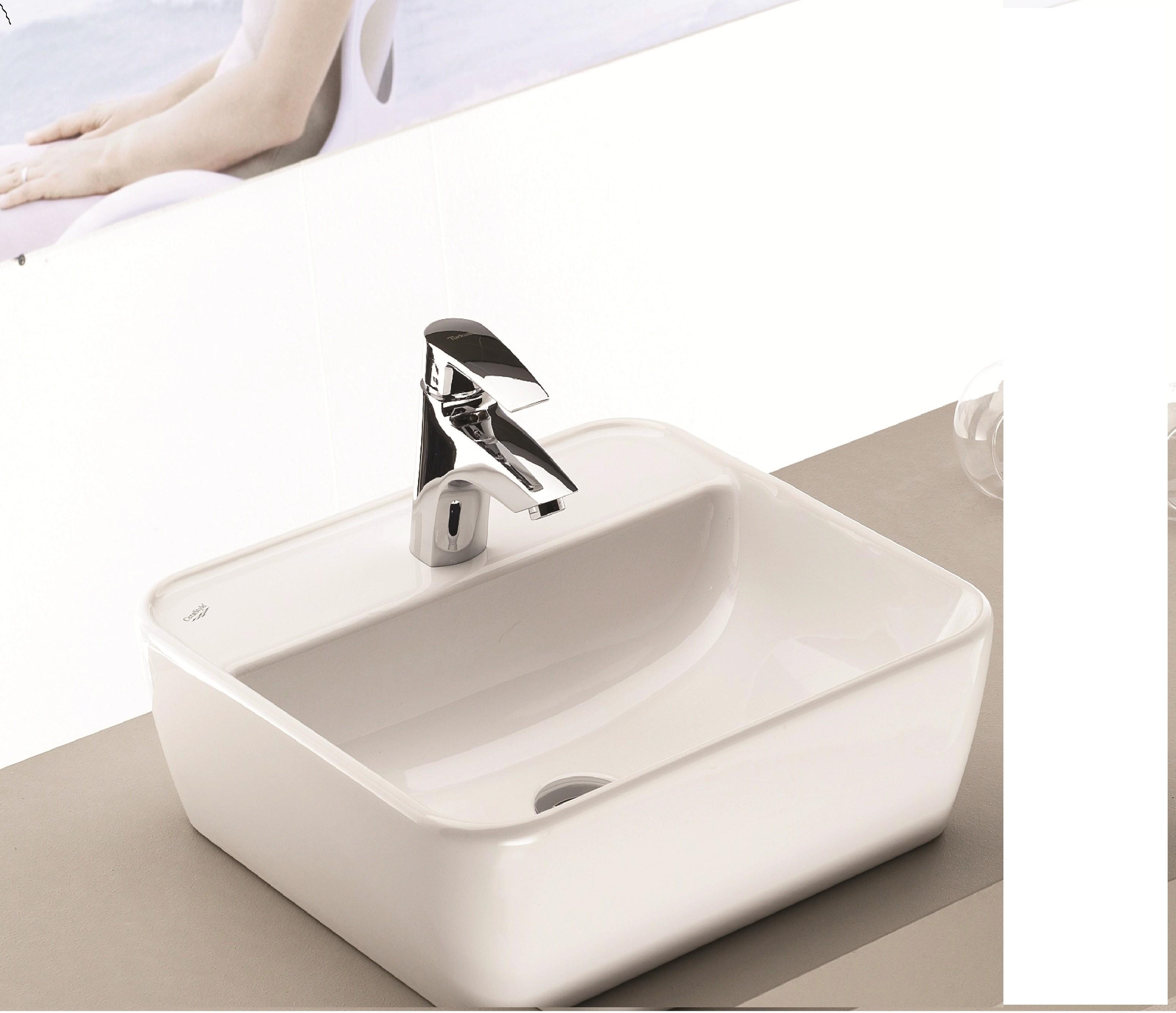 Vasque à Poser 46x42cm Série ONE carré