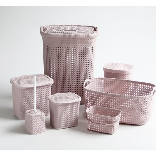 Ensemble de 7 Pièce en Plastique rose