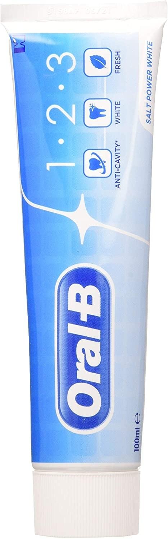 Dentifrice Oral-b 1.2.3 Salt Power White  100ml