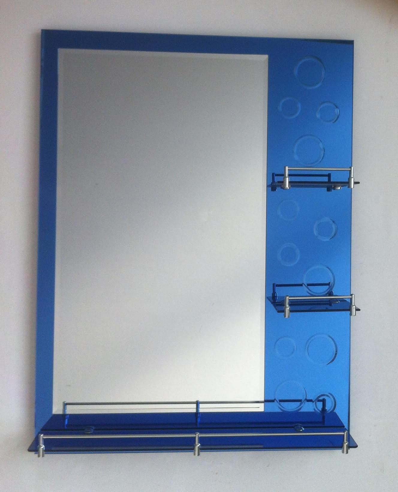 Miroir 80x60cm Bleu Atlantic+ Lampe  h-1025 bleu
