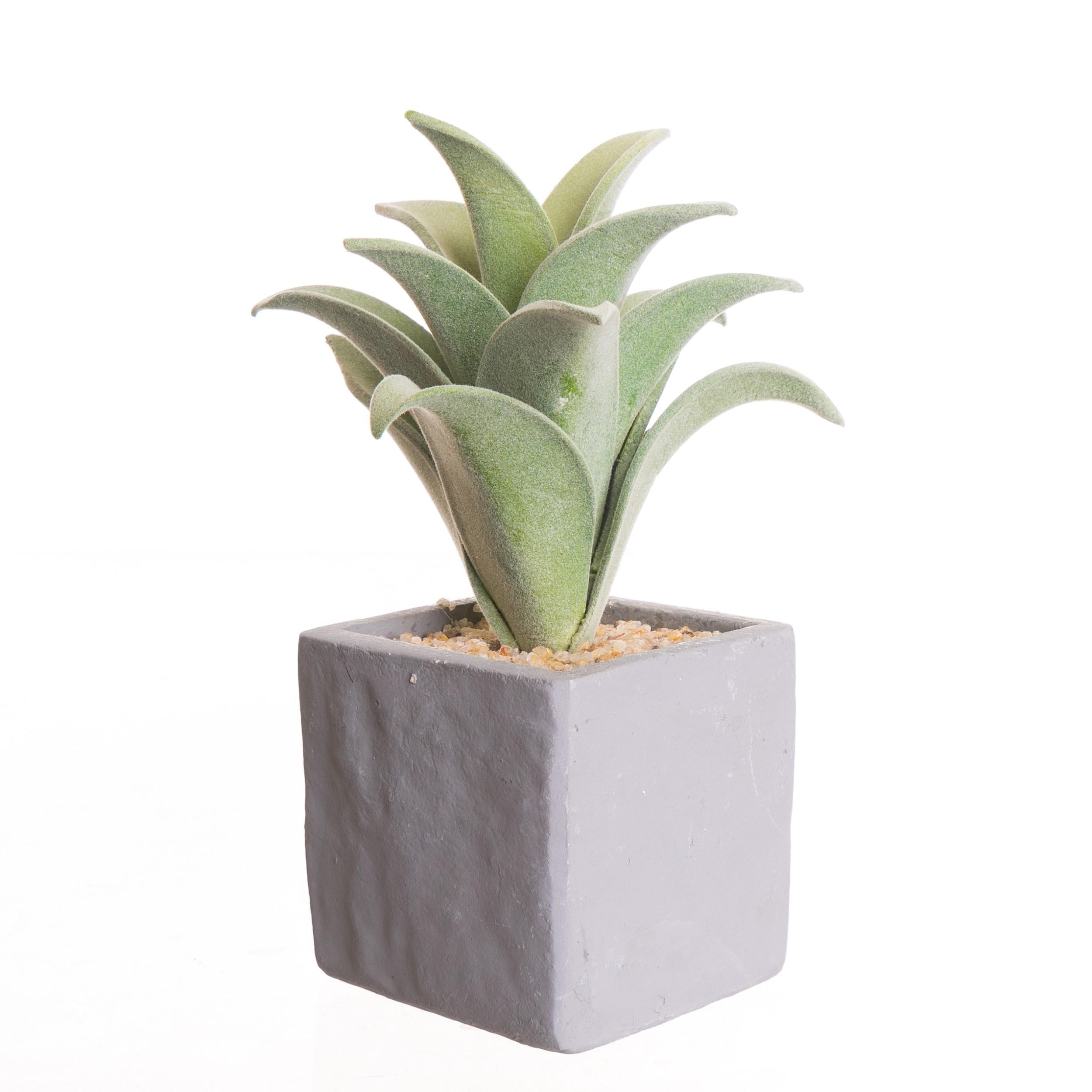 Fleur Artificiel en Pot Ciment Gris