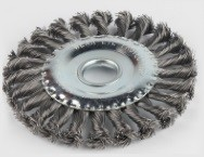 Brosse de roue en fil d acier 5''/125mm