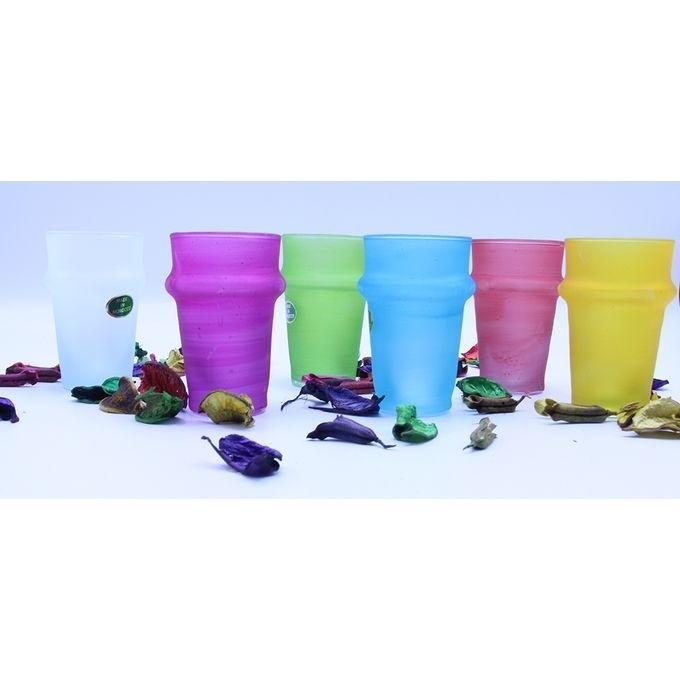 Set de 6 verre traditionnel multi couleur