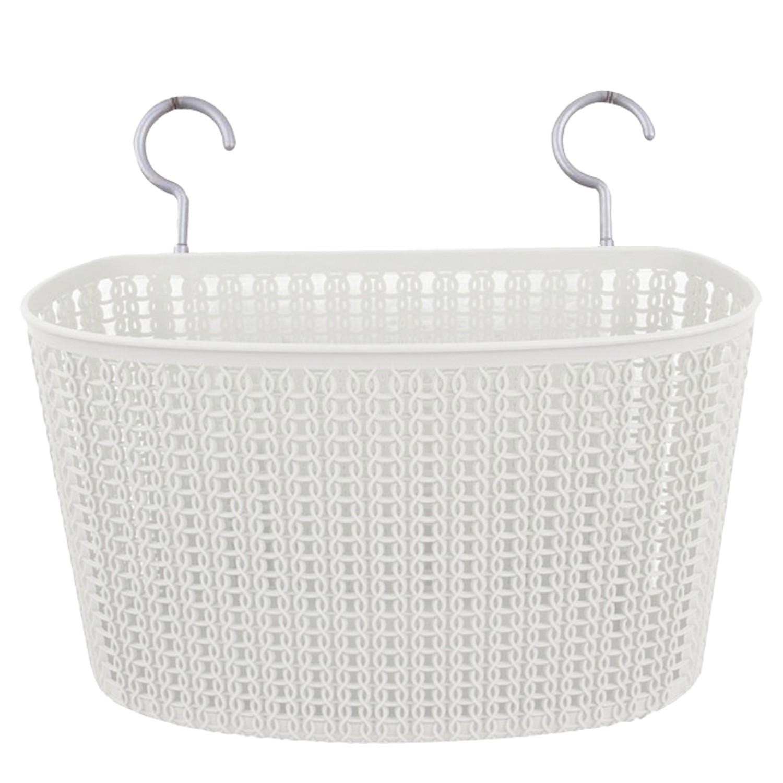Panier Suspendu avec Crochet Blanc