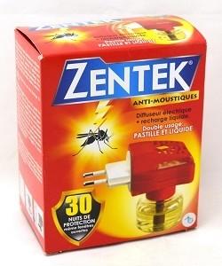 Diffuseur Double Usage+Recharge Liquide 30 Nuits ZENTEK