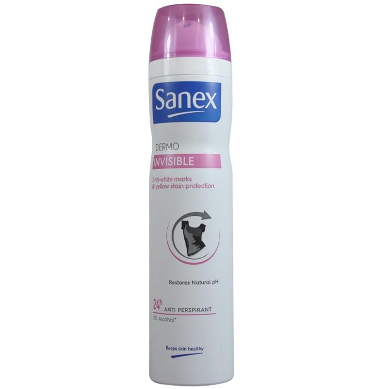 Déodorant spray Sanex invisible 24H 250 ml