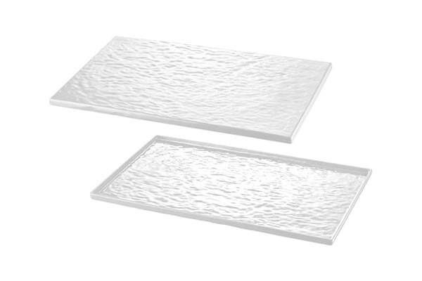 Plat en Mélamine Type Buffet Blanche 17.7x32.5cm