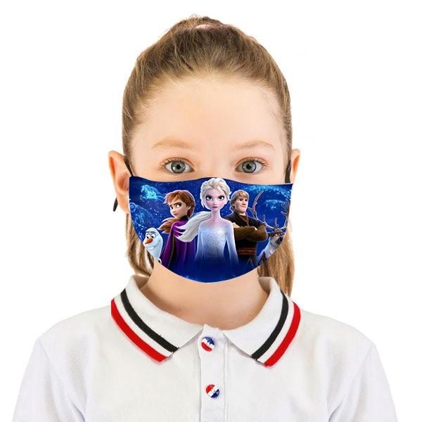 Masque De Protection Pour Enfant Motif Reines Des Neige