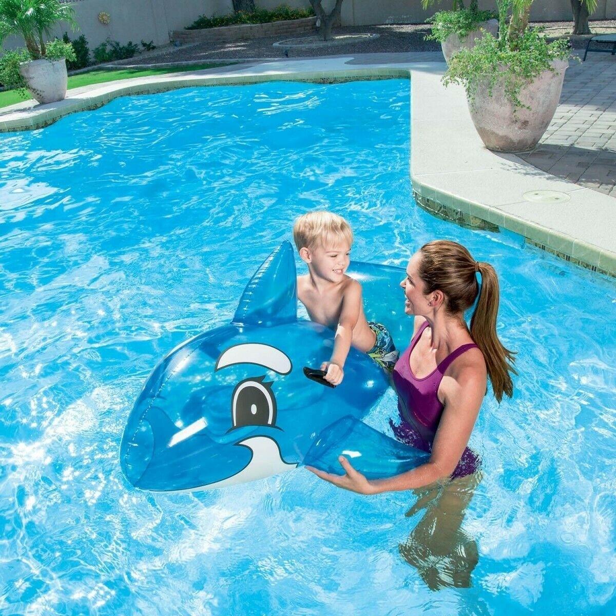 Baleine Gonflable Bleu