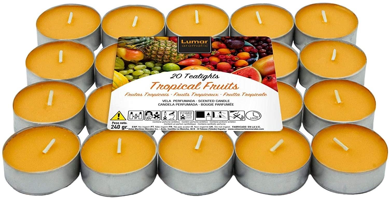 Bougies aromatiques aromatiques Lumar (20 bougies aux fruits tropicaux)