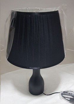 Lampe de Table 1xE27 Noir