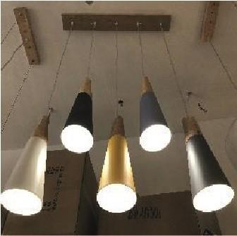 Suspension Alum corne x5 Multicolore D09 5xE27 2-6