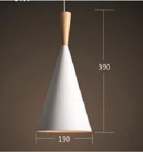 Suspension Corne en Métal/Bois Blanc 390x190 d42 1xE27 2-1