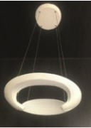 Suspension Led Coquille Blanc 50W 7-14