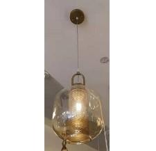 Suspension Décoratif en verre une pcs dore 8846/1H-B