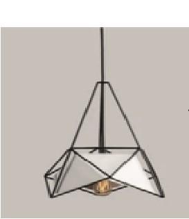 Suspension Géométrique design fer 1xE27 1-38