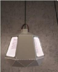 Suspension Géométrique Fer/cuir Noir 1xE27 1-21