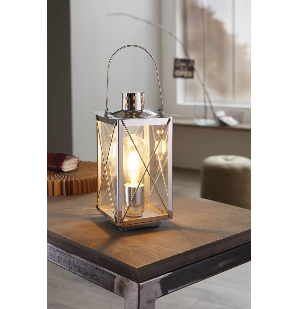 lampe à Table DONMINGTO Steel Chrome 1X60W