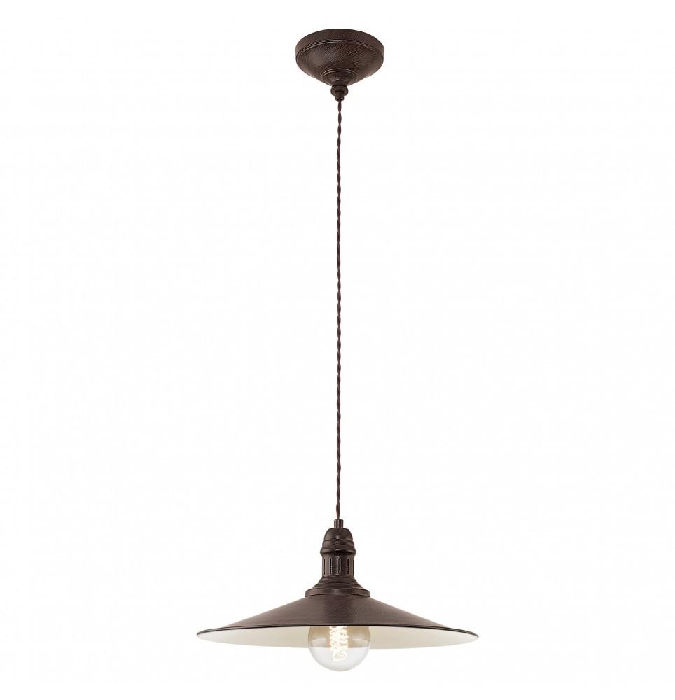 Luminaire en Suspension Stockbury E27 1X60W Acier Marron Antique Beige