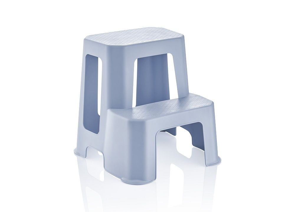 Tabouret en plastique avec 2 marches
