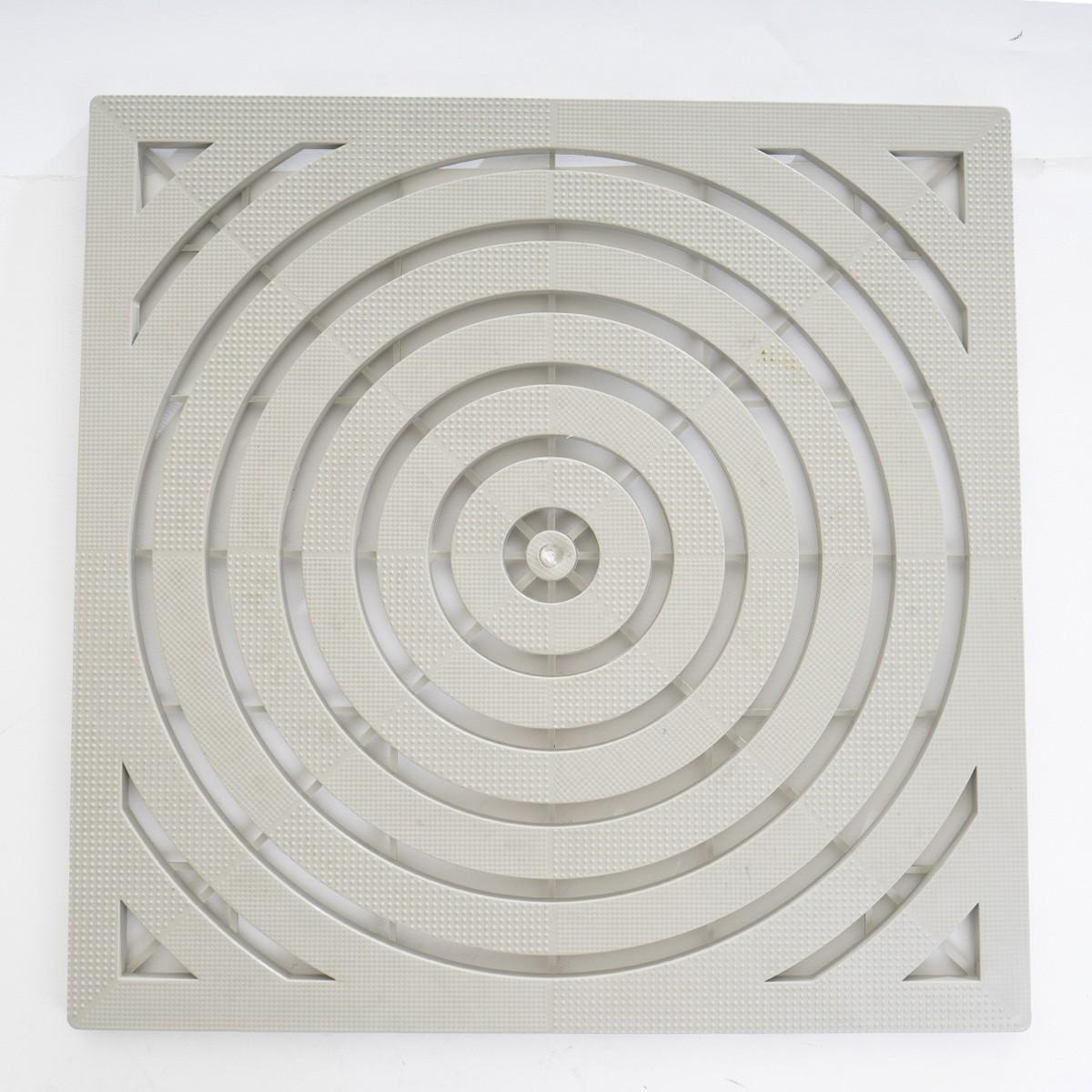 Tapis Rigide pour Receveur de Douche Blanc 57.5x57.5cm