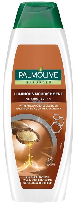 Shampoing Palmolive luminous nourishment 2in1 (nat argan) 350 ml