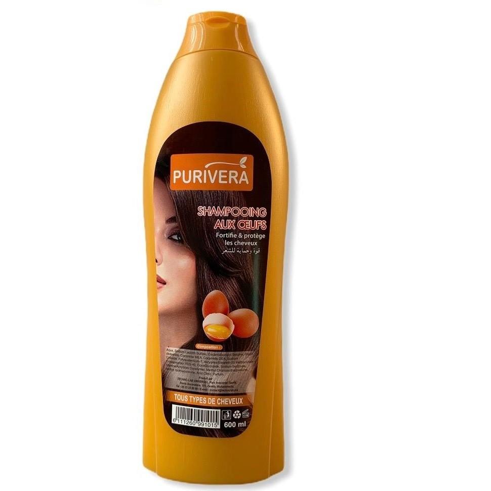Purivera Shampooing Oeufs 600 ml