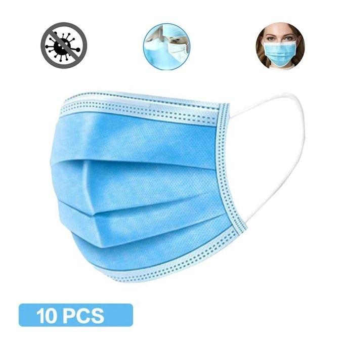 Masque de Protection Jetable avec Barrete Nasale 10pcs
