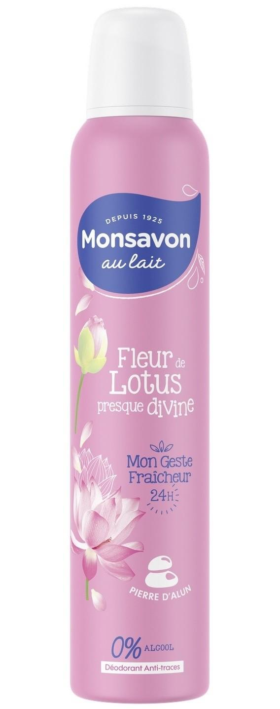 Déodorant spray Monsavon Fleur de Lotus 200ml