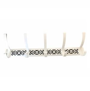 Porte Manteau à Vis 5 Crochet Blanc Design