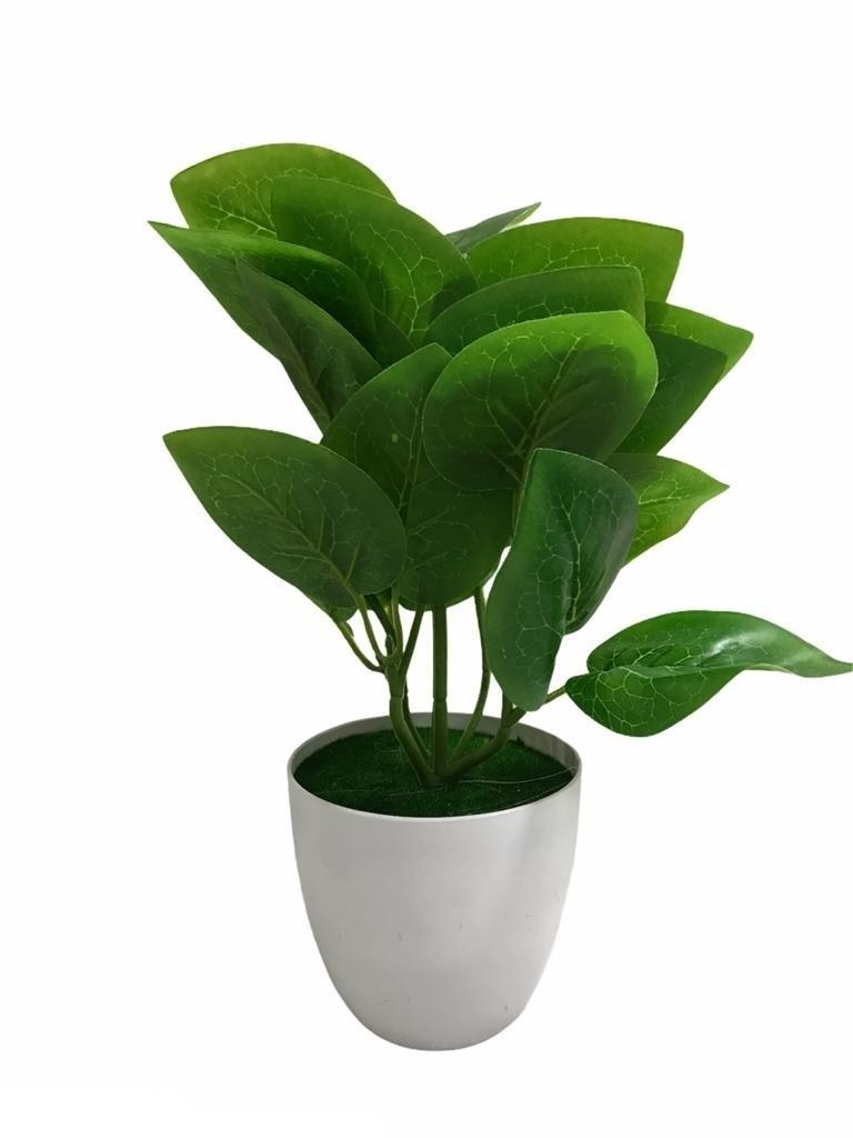 Pot de fleur artificielle en plastique vert