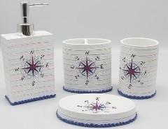 Accessoires SDB en Porcelaine 4 pcs
