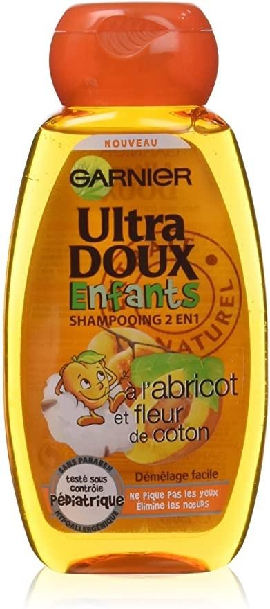 Shampoing Granier ultra Doux 2 en 1 Abricot Coton Enfant 250ml