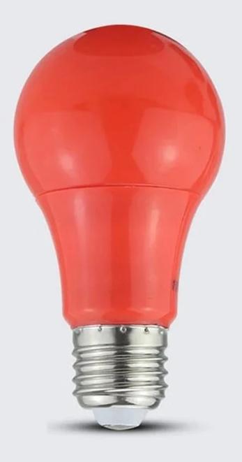 Lampe A60 LED 3W E27 rouge