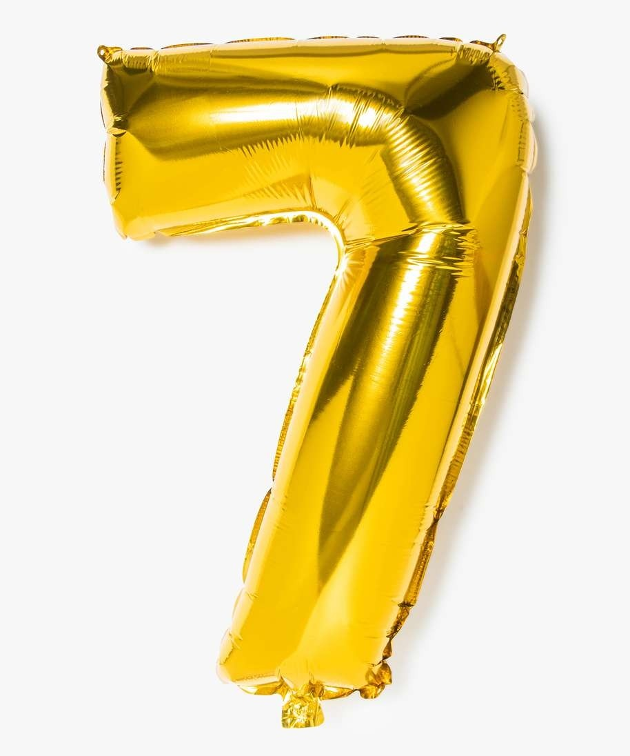Ballon Gonflable Forme Chiffre 7