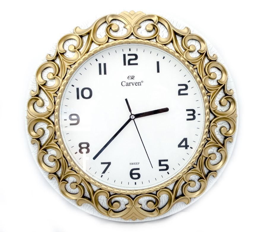 Horloge Décorative Dorée et Blanche