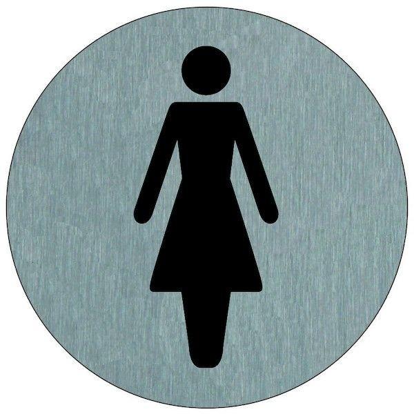 Plaque Signalétique Inox Femme