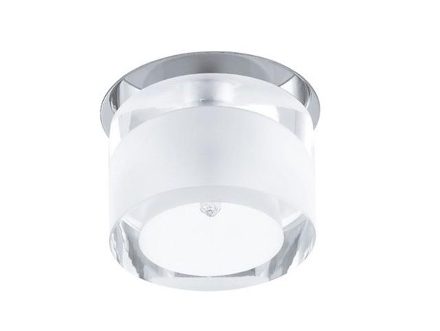 Électricité - Luminaire Plafond - Spot encastrable en acier et verre