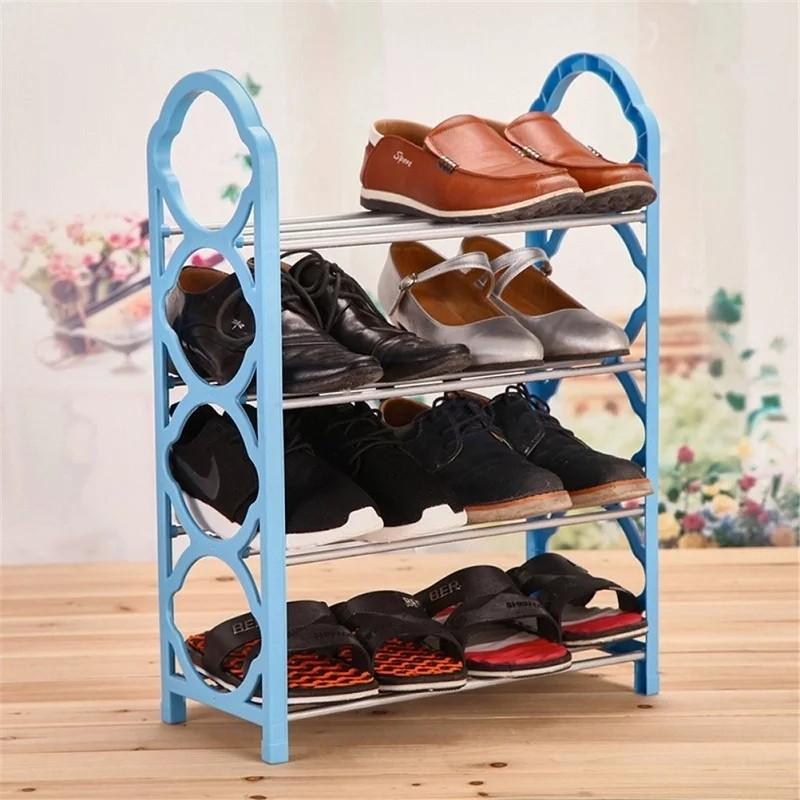 Étagère Pour Chaussures Bleu