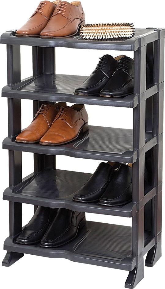 Étagère à Chaussures Noir