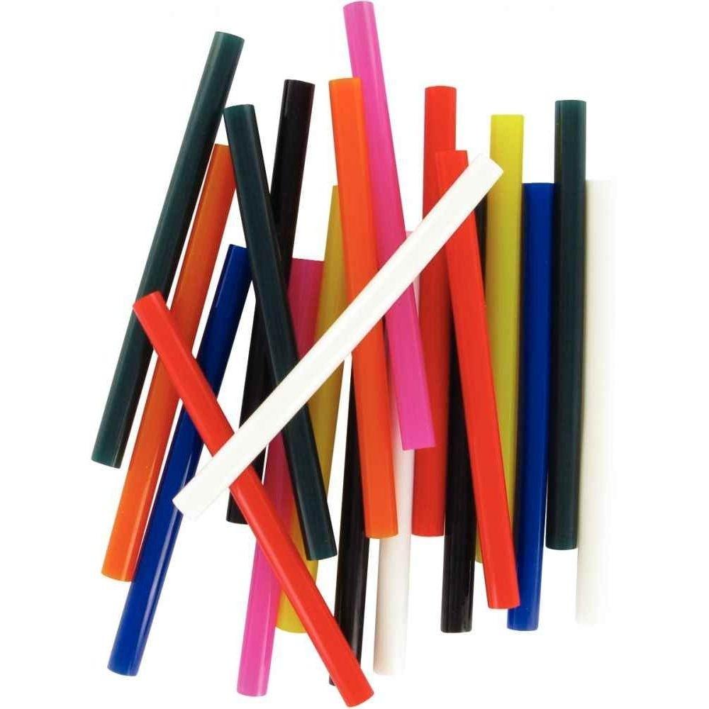 Colle à Chaud Multicolore Sachets De 10 Pièces