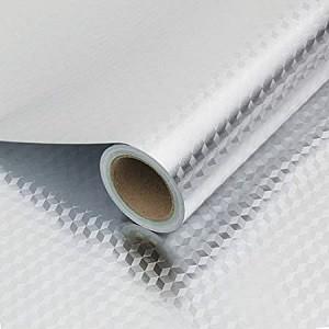 Papier Peint  Autoadhésif  pour cuisine aluminium