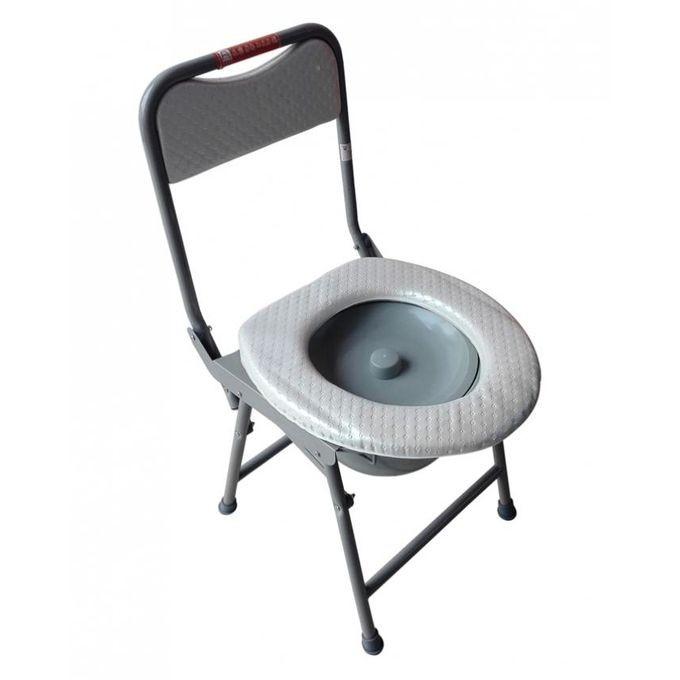 Chaise de Toilette Pliable antidérapante en fer forgé