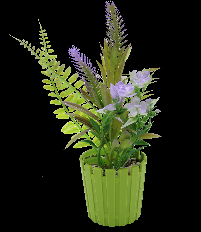 Pot de fleur artificiel en plastique