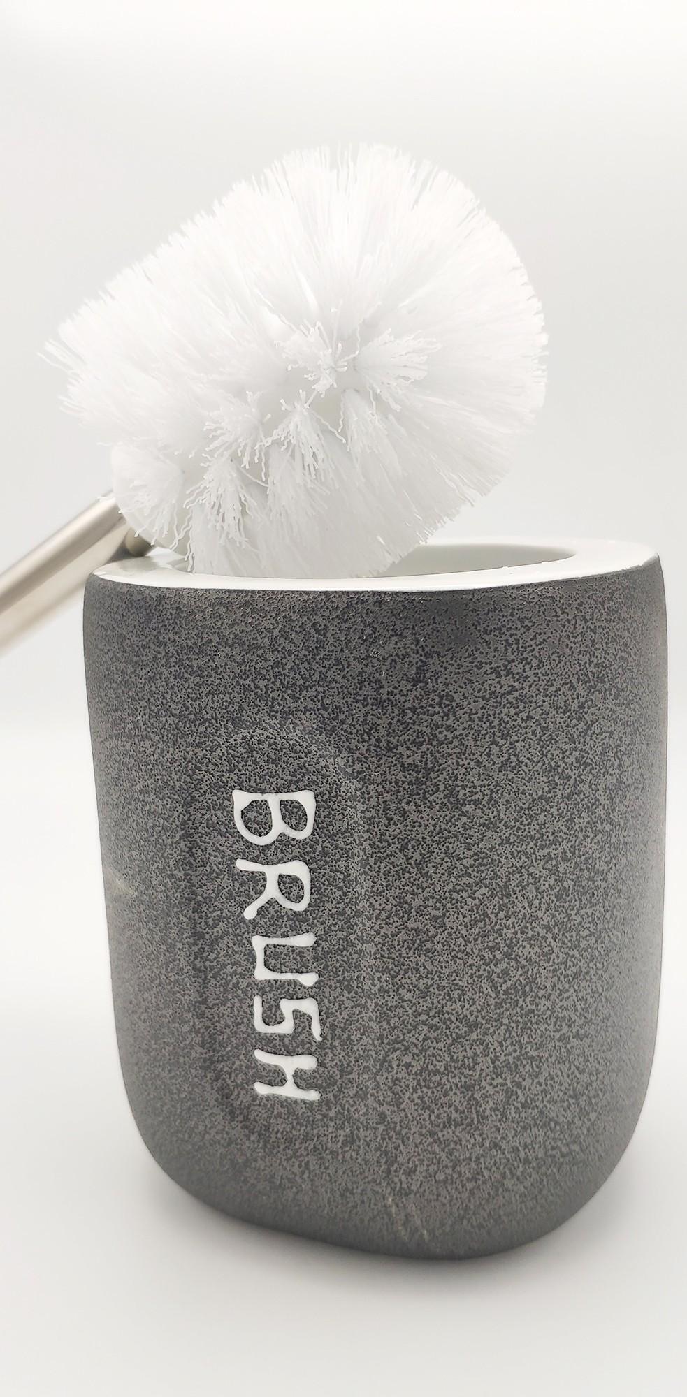 Brosse de Toilette grise Foncée en Céramique