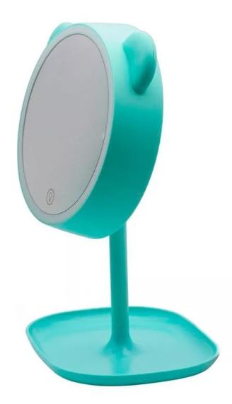 Miroir à Lampe Led avec Tablette de Rangement