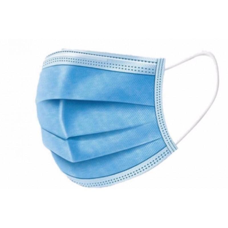 Lot De 10 Masques De Protection De Visage Bleu