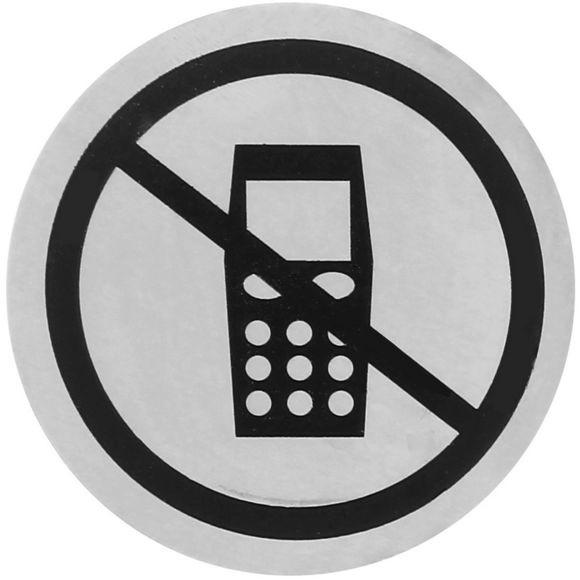 Plaque Signalétique Tele Portable Interdit S Steel