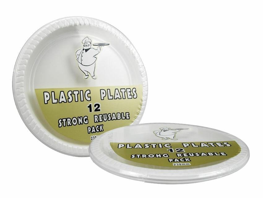 Assiette Jetable Rond 12pcs 230mm